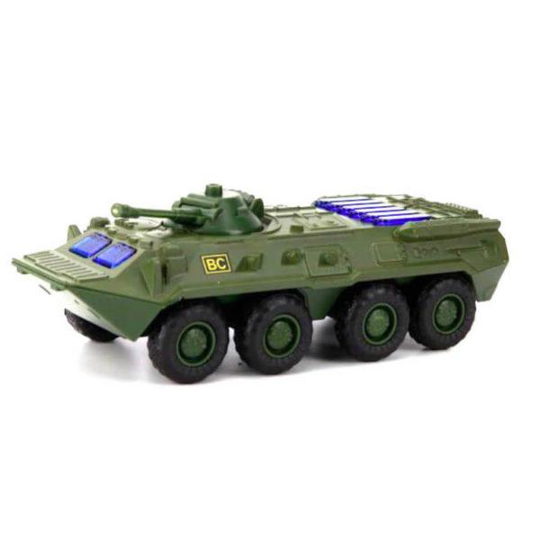 Модель автомобиля БТР-80 - Омон, ВС, со светом и звуком, 1:54