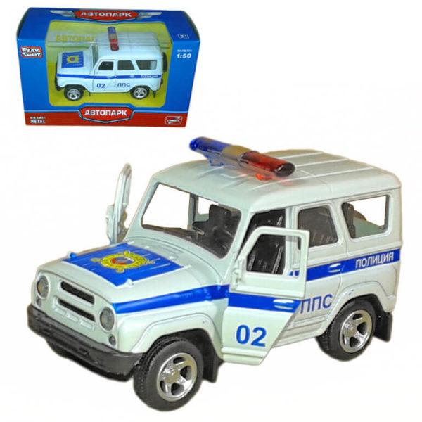 Масштабная модель автомобиля UAZ Hunter – Полиция.