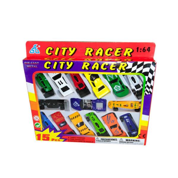 Набор из 15 спортивных машинок City Racer