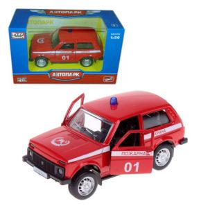 """Масштабная модель автомобиля """"Лада 2121"""" - Пожарная охрана."""