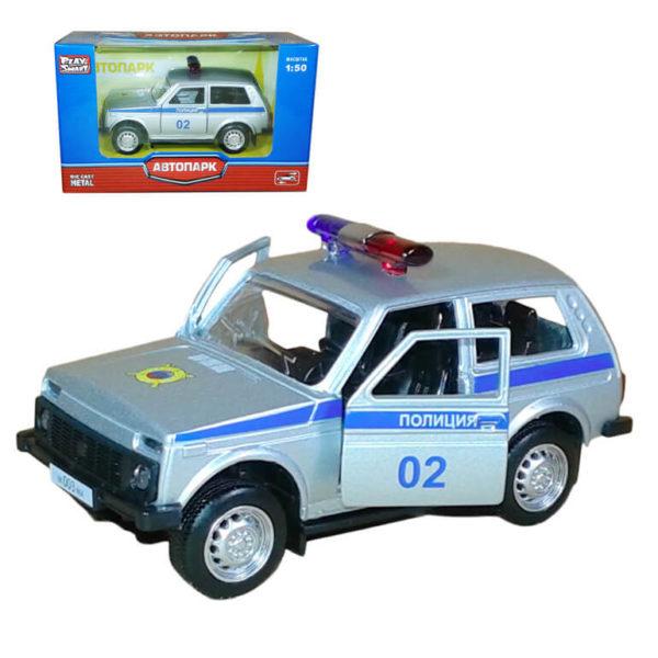 """Модель автомобиля """"Лада 2121"""" – Полиция 02."""