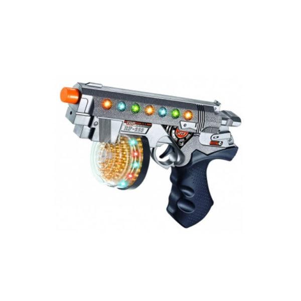 Пистолет лазерный, со светом и звуком