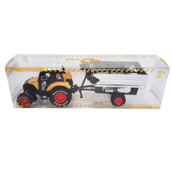Металлическая модель - Трактор с прицепом