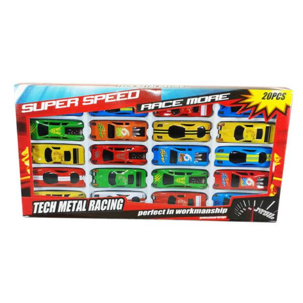 "Набор металлических машинок ""Tech Metal Racing"" 20 шт"