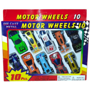 Набор из 10 машин MOTOR WHEELS металл