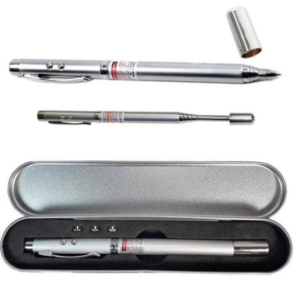Ручка телескопическая, с фонариком, лазером и магнитом
