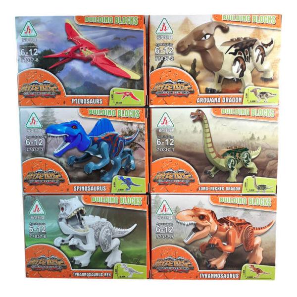 Пластиковый конструктор «Динозавры» 6 видов