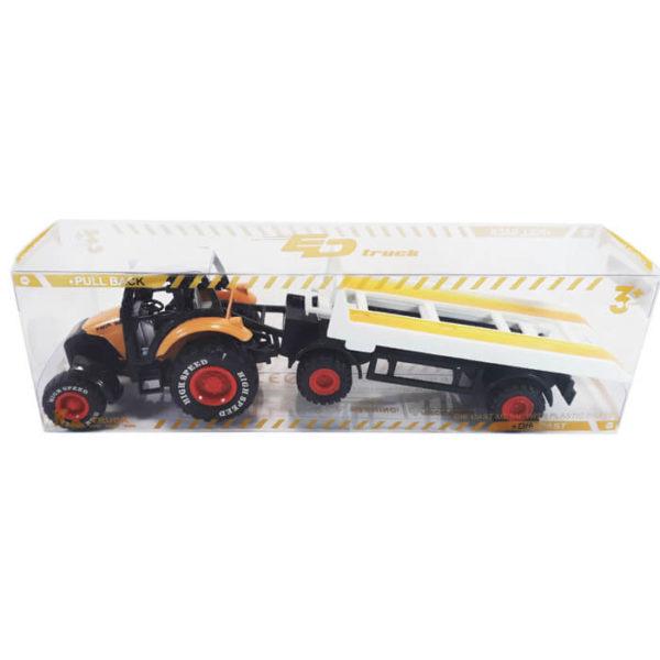 Металлическая модель — Трактор с прицепом