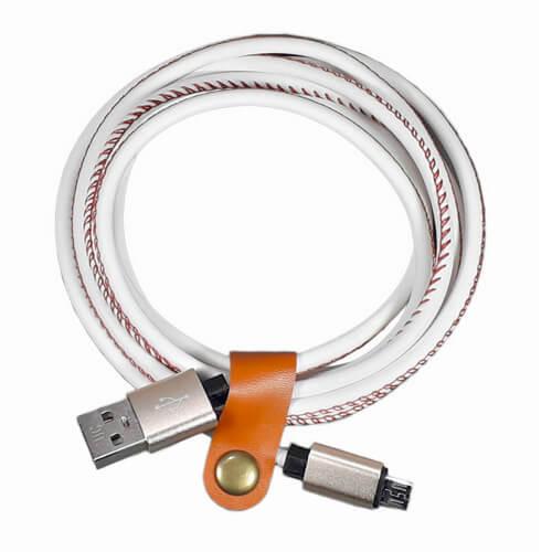 Кабель micro USB в кожаной оплётке